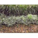 sichtschutzzaun pvc steinmauer mittel